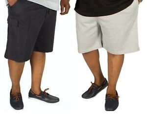 Mens Big King Size Branded Cargo Combat Shorts Elasticated Waist Casual Summer