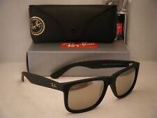 Ray Ban 4165 Justin Rubber Black w Gold Mirror Lens (RB4165 622/5A 55mm size)