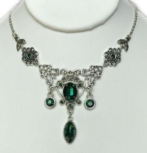 Gothic Victorian Renaissance Medieval Filigree Antique Silver Necklace Choker