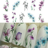 DIY Nail Art Transfer Stickers 3 Sheets Flower Decals Manicure Decoration Tips