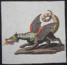 DRAGON - Febelwesen - Fable Creatures - Friedrich Bertuch - Printed Patch-Sew On
