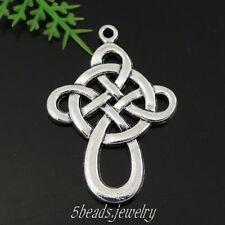 36 Stück Antike Silber Legierung Chinesisch Stil Knoten Charme Anhänger 39442