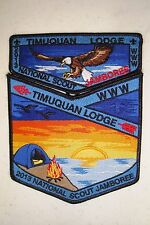 OA TIMUQUAN LODGE 340 W CENTRAL FL 2 PATCH EAGLE BSA 2013 JAMBOREE DELEGATE FLAP