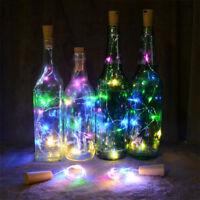 LED Light Wine Bottle Copper Wire String light bulb Cork Festival Party Decor