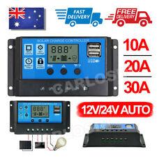 Solar Panel Charge Controller Regulator 12V/24V auto dual USB 30A/20 Battery PWM