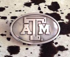 Texas A&M Aggies Polished Silver Belt Buckle Enmon Fraternity