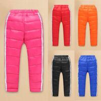 Kids Boys Girls Puffer Duck Down Pants Winter Warm Trousers Waterproof Pants