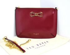 Ted Baker Gretaa Geometric Bow Leather Cross Body Bag Red