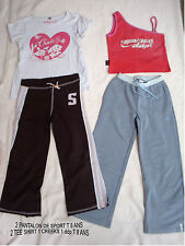 LOT VETEMENTS DE SPORT 2 PANTALON ET 2 TEE SHIRT CREEKS ET DDP T 6/ 8 ANS