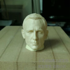 Free Shipping 1/6 scale Head Sculpt Daniel Craig Resin James Bond 007 unpainted