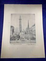 "Etching Don Swann Print ""Mt Vernon Square"" 485"