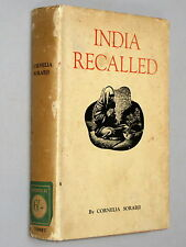 INDIA RECALLED - Cornelia Sorabji (1936 1st Ed) Illustrated Indian life women