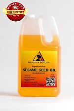 SESAME OIL REFINED ORGANIC by H&B Oils Center EXPELLER PRESSED 100% PURE 7 LB