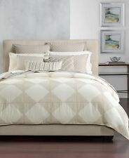 NEW Hotel Collection Diamond Embroidered QUEEN Duvet Cover MSRP $370 - NICE!