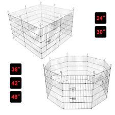 More details for pet dog pen 8 panel puppy rabbit playpen run crate cage foldable enclosure fence