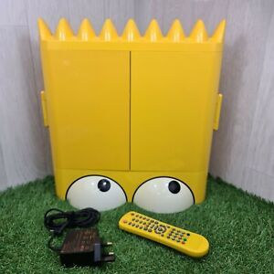 """Extremely Rare Bart Simpson Head 15"""" LCD TV + Remote, Control 20th Century Fox"""