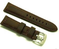 22mm Replacement HQ Brown Crazy Horse Oily Leather Watch Band - Guess Fossil 22