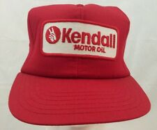 Kendall Motor Oil hat cap red old vtg trucker mesh snapback USA