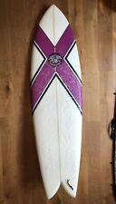 "Custard Point 6'8"" Fish Surfboard With Twin Keel Fins"