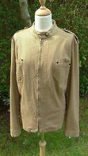 Marina Rinaldi metallic gold/ bronze coloured zipped jacket size 20