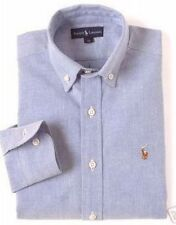 New Polo Ralph Lauren Boys Blue Button Down Oxford Shirt 18 Mens XS NWT