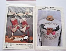 Bee Hive Merry KissMoose & Buckeye Tree Christmas #112 Angel Stocking Pattern