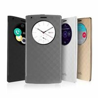 Luxury Quick Circle Smart Window View Slim Wallet Flip Case Cover For LG G3 G4PK