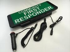 LED Univisor COMMUNITY FIRST RESPONDER Sign visor illuminated flashing