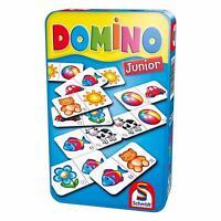 Schmidt Spiele Domino Junior Bring-Mich-Mit-Spiel in Metalldose Brettspiel Spiel