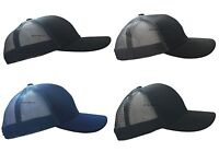 UNISEX CLASSIC PLAIN BASEBALL CAP CURVED SUMMER ADJUSTABLE TRUCKER MESH HAT MENS