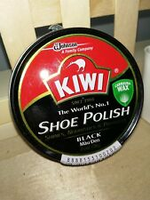 1 x 36g Kiwi Shoe Polish Black Rich Paste Nourishes & Protect Shoes and Leather