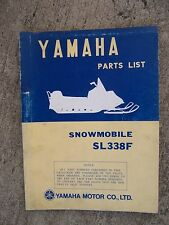 **1973 Yamaha SL338F Snowmobile Illustrated Parts List MORE SNO-MO IN STORE  V