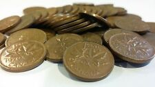 FULL ROLL 1970 CANADA ONE CENT PENNIES CIRCULATED