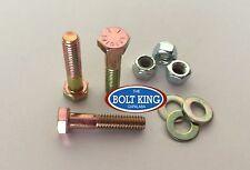 5/16 x 1-1/2 UNC Hex Bolt Zinc Yellow High Tensile grade8 Kit 10 bolt/washer/nut