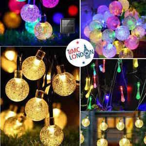 Garden Solar Powered LED Retro Bulb Outdoor String Fairy Summer Lamp Lights