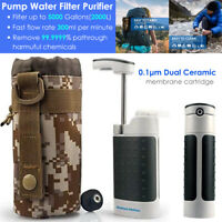 Outdoor Military Emergency Water Filter Purifier Survival Pump Camping Hiking
