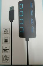 Sabrent 4 Port USB 3.0 Hub with Individual Power Switches HB UM43 NEW