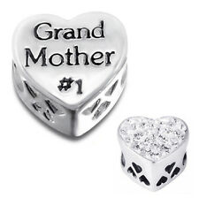 GRANDMOTHER Charm Bead 925 Sterling Silver Fits All European Charm Bracelet