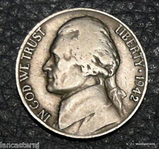 1942-D  Circulated Jefferson Nickel  Free Shipping !