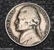 1942-D Circulated Jefferson Nickel Free Shipping Satisfaction Guaranteed!