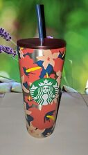 STARBUCKS Tumbler Summer 2020 Tropical Hibiscus Floral Hawaii Limited Edition