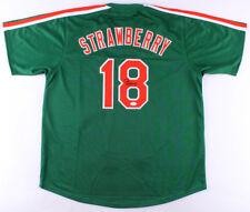 Darryl Strawberry Signed Mets St Patricks Day Spring Training Jersey (JSA COA)