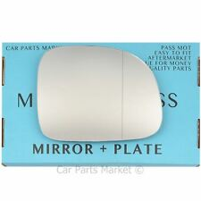 For Fiat 500L 12-14 Right Driver side Aspheric wing mirror glass with plate