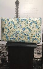 VINTAGE Floral Americale double Fitted Sheet Flat sheet  pillowcase NEW Bedding