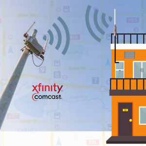 Single PC Outdoor WiFi Range Booster for 5 Ghz Xfinity Comcast or Public Hotspot