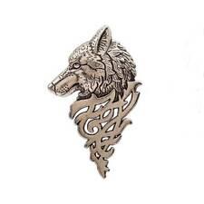 Black Retro Europe Wolf Badge Brooch Lapel Pin Men Women Shirt Suit Accessory