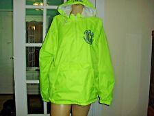 VARSITY SPIRIT SHOP BRIGHT YELLOW JACKET WITH HOODIE100%NYLON 100%COTTON SIZE M