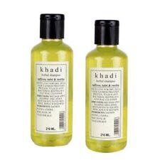 Khadi Herbal Shampoo with Saffron,Tulsi & Reetha, Anti Dandruff-210ml(Pack of 2)