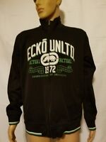 ECKO Unltd Track Jacket Full Zip Mens Large Black Connoisseurs of Creativity