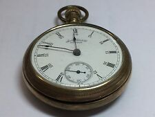 Vintage Waltham Pocket Watch 4103033 With Elgin Napoleon Case 2879760  (#72YO)